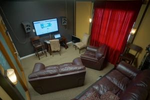 Theater room at Big Box Pro