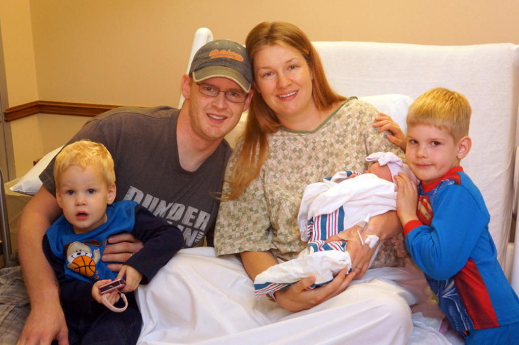 Perrin Family at Sophie's Birth