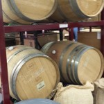 Wine barrels for coffee aging