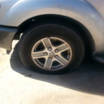 Flat tire Dodge Durango