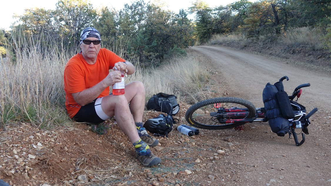 Steven Barnard and Dinner on the Arizona Trail