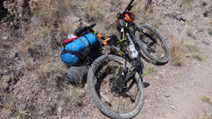 Packing gear Arizona Trail 300 mountain bike race
