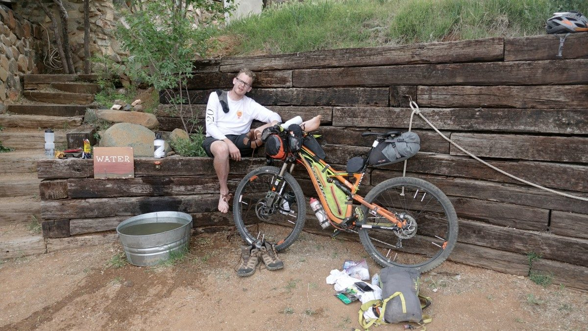 Derrick Perrin resting at High Jinks Ranch