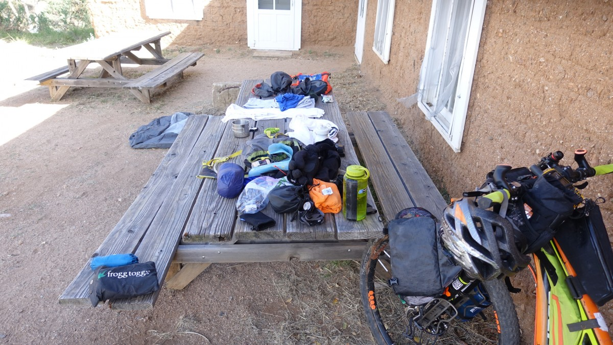 Bikepacking gear at Kentucky Camp